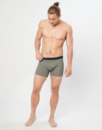 Miesten villa-alushousut ribbineulosta oliivinvihreä