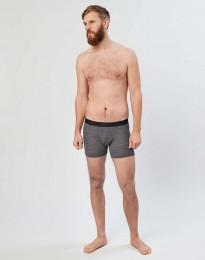 Miesten villa-alushousut ribbineulosta tumma harmaameleerattu
