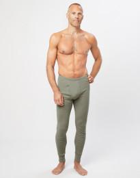 Miesten pitkät merinovilla-alushousut sepaluksella oliivinvihreä