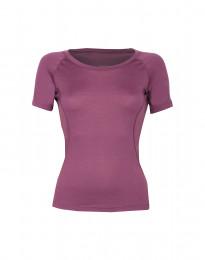 T-paita merinovillaa tumma pinkki
