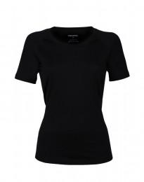 T-paita huippulaatuista merinovillaa musta