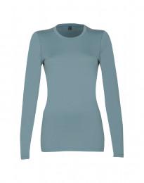 Pitkähihainen paita - huippulaatuista merinovillaa siniharmaa