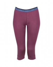 3/4-leggingsit huippulaatuista merinovillaa tumma pinkki