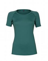 T-paita huippulaatuista merinovillaa turkoosinvihreä