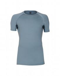 T-paita huippulaatuista merinovillaa siniharmaa
