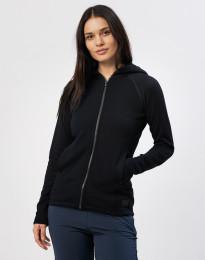 Naisten huppari taskuilla villafroteeta musta