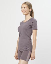 Naisten T-paita - ekologista ja huippulaatuista merinovillaa laventelinharmaa