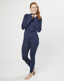 Naisten leggingsit huippulaatuista merinovillaa mariininsininen