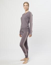Naisten leggingsit huippulaatuista merinovillaa laventelinharmaa