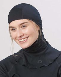 Naisten kypärämyssy - ekologista ja huippulaatuista merinovillaa musta