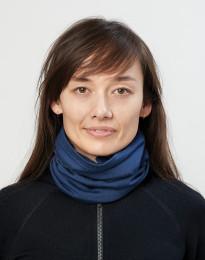 Naisten tuubihuivi ekologista ja huippulaatuista merinovillaa tummansininen