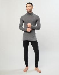 Miesten pitkät alushousut merinovilla-silkkiä musta