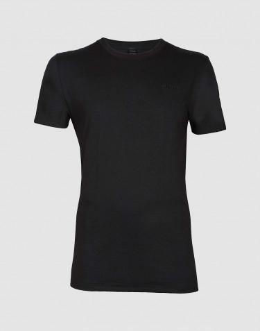 T-paita puuvillaa musta