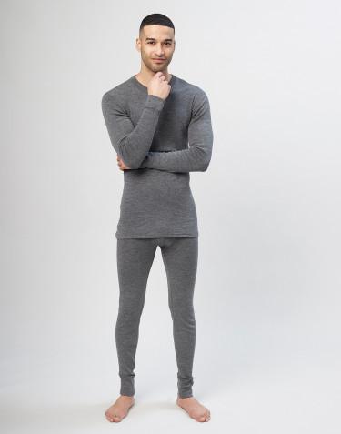Miesten pitkät merinovilla-alushousut - harmaa