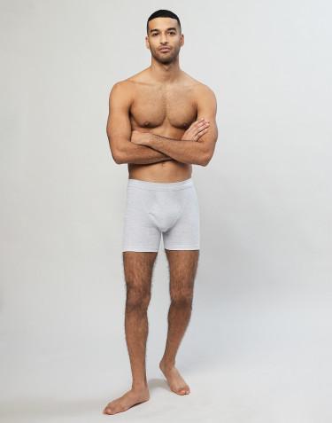 Ribbineulotut miesten puuvilla-alushousut sepaluksella harmaa