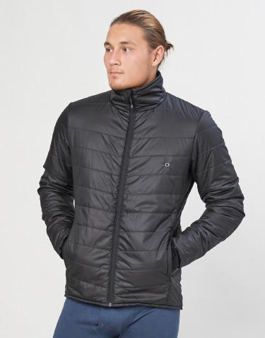 Miesten ulkoilutakki - kierrätettyä polyesteriä/merinovillaa musta