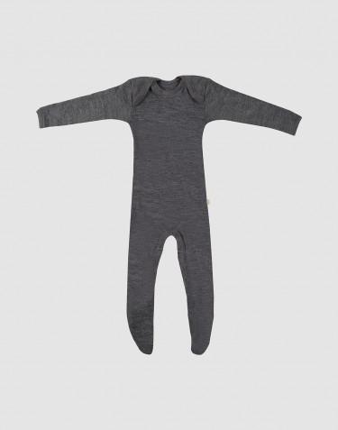 Vauvan potkupuku merinovillaa tumma harmaameleerattu