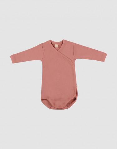 Vauvan kietaisubody merinovillaa - roosa