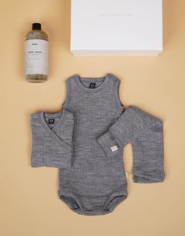 Vauvan aloituspakkaukset koot 56 harmaa