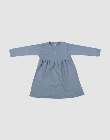 Vauvan merinovillamekko - sininen