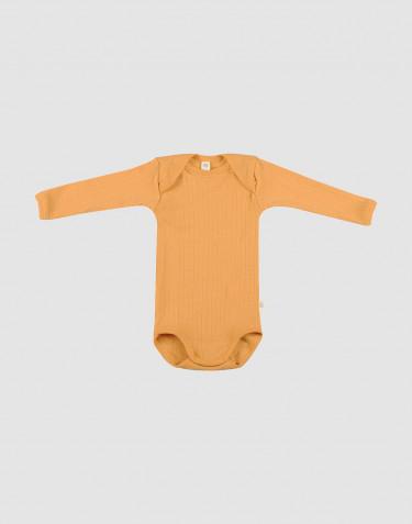 Vauvan villabody ribbineulosta Okrankeltainen