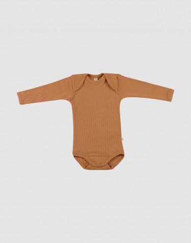 Vauvan ribbineulottu villabody - Toffee