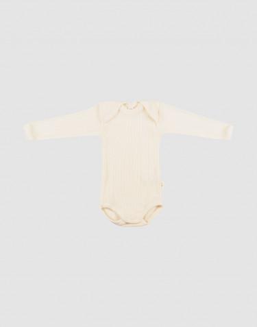 Vauvan pitkähihainen body merinovillaa