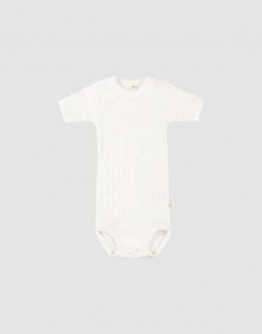 Lyhythihainen vauvanbody ekologista puuvillaa valkoinen