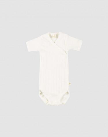 Vauvan kietaisubody ekologista puuvillaa valkoinen