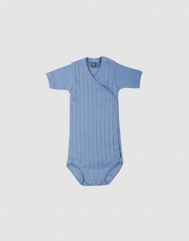 Vauvan kietaisubody ekologista puuvillaa sininen