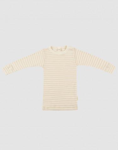 Vauvan pitkähihainen paita ekologista villasilkkiä Beige/luonnonvärinen