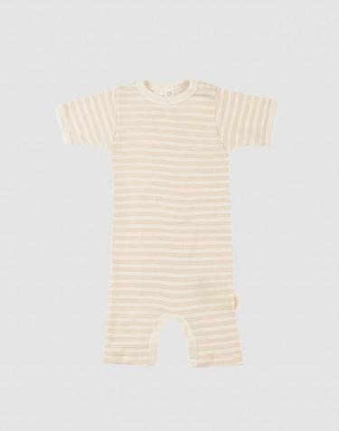 Vauvan kesäpotkupuku ekologista villasilkkiä beige/luonnonvärinen