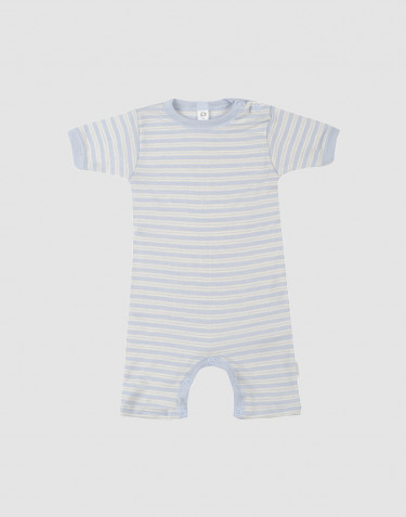 Vauvan kesäpotkupuku ekologista villasilkki sininen/luonnonvärinen