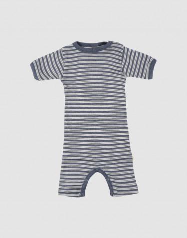 Vauvan kesäasu ekologista villasilkkiä meleerattu sininen/luonnonvalkoinen