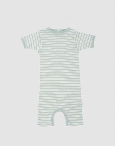 Vauvan kesäasu ekologista villasilkkiä pastellinvihreä/luonnonvalkoinen