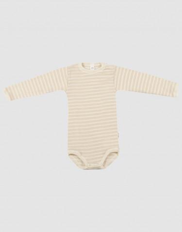 Vauvan pitkähihainen body ekologista villasilkkiä beige/luonnonvärinen