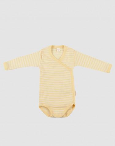 Vauvan kietaisubody ekologista villasilkkiä vaaleankeltainen