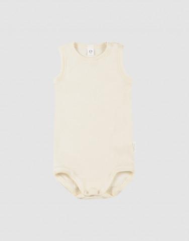 Vauvan hihaton body ekologista villasilkkiä luonnonvärinen