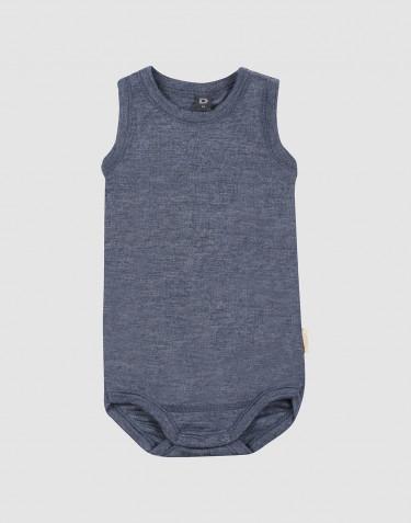 Hihaton vauvan body ekologista villasilkkiä meleerattu sininen