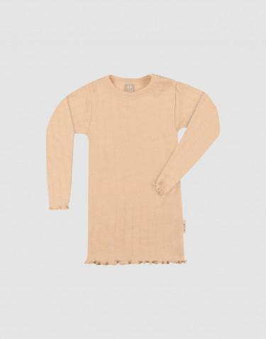 Vauvan pitkähihainen pointelle-paita merinovillasilkkiä