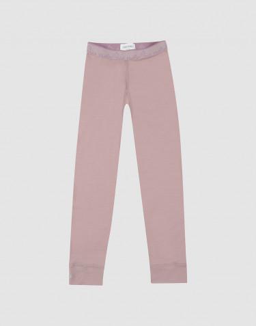 Lasten leggingsit - huippulaatuista ja ekologista merinovillaa vanha roosa