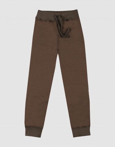 Lasten housut villafroteeta Tummanruskea