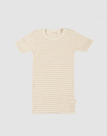 Lasten t-paita ekologista villasilkkiä beige/luonnonvärinen