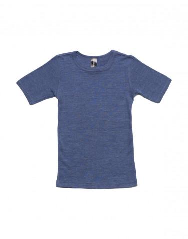 Lasten t-paita villasilkkiä farkunsininen