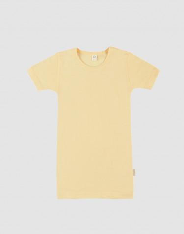 Lasten t-paita ekologista villasilkkiä vaaleankeltainen