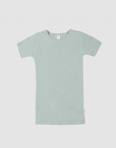 Lasten t-paita villasilkkiä Pastellinvihreä