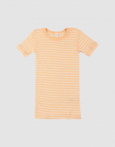 Lasten t-paita ekologista villasilkkiä aprikoosi/luonnonvärinen