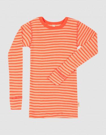 Lasten pitkähihainen paita merinovillasilkkiä