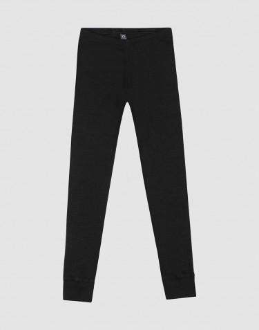 Lasten ekologiset leggingsit villasilkkiä - musta