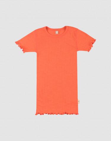 Lasten pointelle-t-paita merinovillasilkkiä
